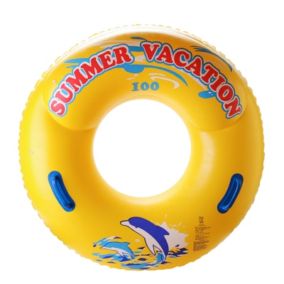 SUMMER 손잡이 원형튜브(노랑)(100cm)/성인용 대형튜
