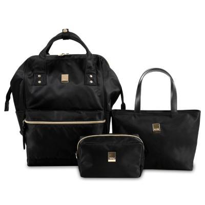 기저귀가방 POSY LX-01 블랙 3종 SET 백팩