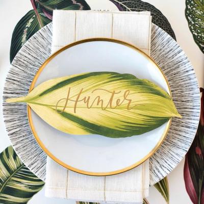 나뭇잎 종이 테이블 악센트 Table Accent