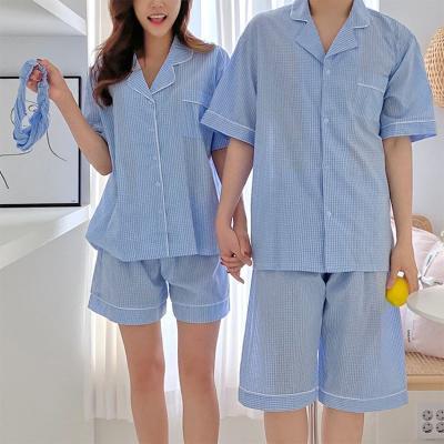 Gingham Pajama Set - 커플룩,헤어밴드포함