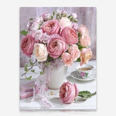 크림색 장미 DIY 보석십자수 십자수 비즈세트