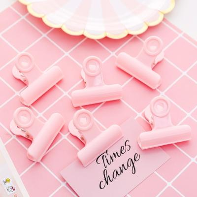 핑크 철제 사무용 집게 미니 페이퍼 클립 문구용 다꾸