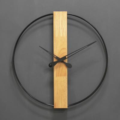 (khyn015)직사각 우드 와이어 시계 (블랙)