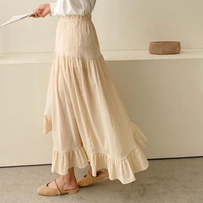 Yolo Frill Unbal Long Skirt
