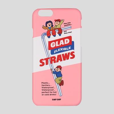 [어프어프] 하드케이스 Straws glad-pink