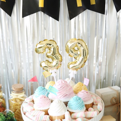 생일파티 장식세트(모던 블랙)