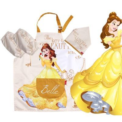 디즈니 어린이 미녀와야수 벨 앞치마세트
