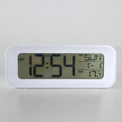 모던 심플 디지털 알람 탁상시계 (화이트) 추카추카넷