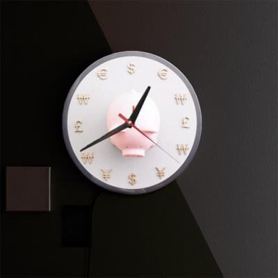 nf125-LED시계액자25R_시간은돈이다