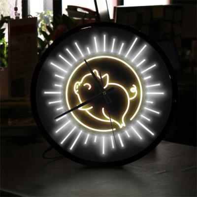 ng548-LED시계액자35R_밝게빛나는복돼지