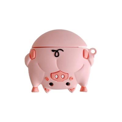 에어팟 1 2세대 동물 엉덩이 실리콘케이스_ap607 돼지