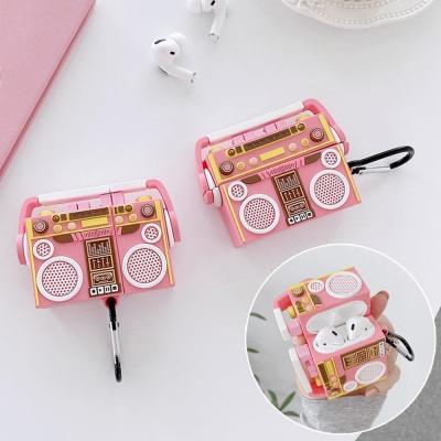 에어팟 프로 1 2 3세대 레트로 라디오 실리콘 케이스