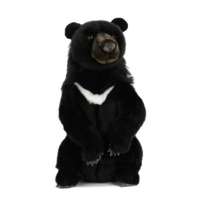 5865번 반달가슴곰 Taiwanese Black Bear Sitting/23cm.H