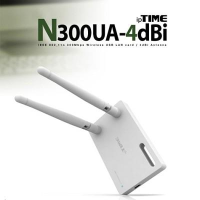 [EFM Network] ipTIME-N300U-4dBi / 300Mbps급 11n 외장안테나형 USB 무선랜카드 / USB케이블