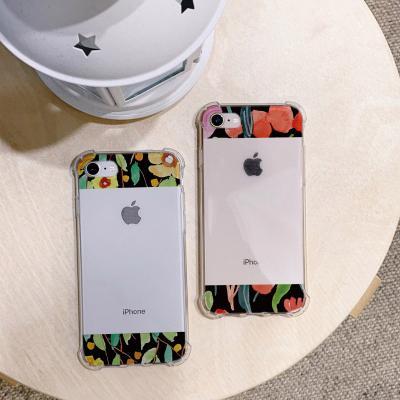 아이폰XS MAX 포인트 꽃 방탄케이스