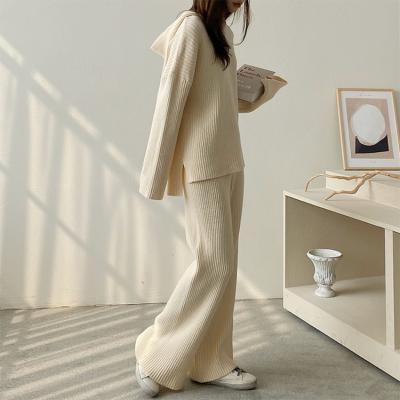 [Set] Golgi Hood Knit + Straight Pants