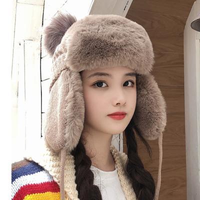 링스 겨울 페이크퍼 방울 귀달이 모자