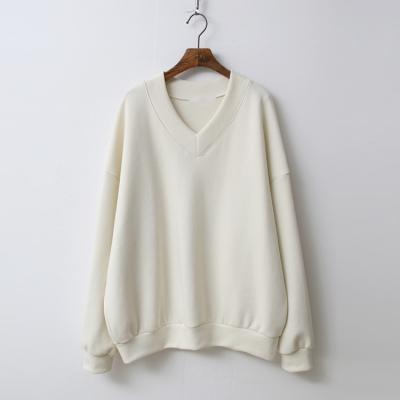 Gimo V-Neck Puff Sweatshirt - 기모안감