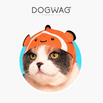 [도그웨그 DOGWAG] 물고기 비니모자 고양이 모자 강아지 모자