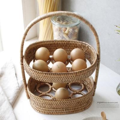 [2HOT] 라탄 12구 계란 바구니