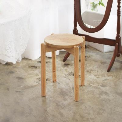 에코상사 원목 원형 스툴 인테리어 의자