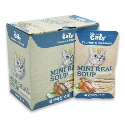 고양이 습식 파우치 리얼 북어치킨 스프 40g 닭가슴살