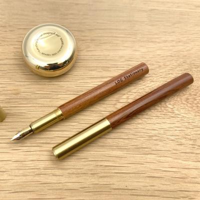 LOG FP-402 (Brass+Walnut) 황동 호두나무 만년필