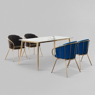 카엘로 세라믹 마블 골드 식탁 세트 1800 + 의자 4개