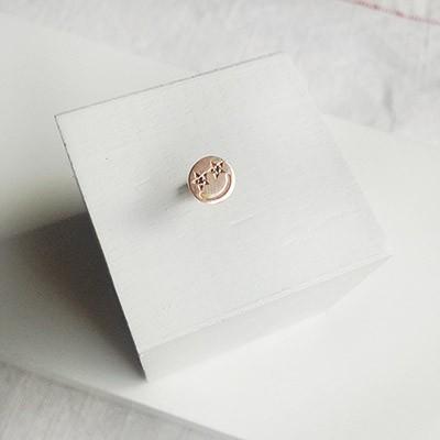 14k gold star smile diamond piercing- 낱개