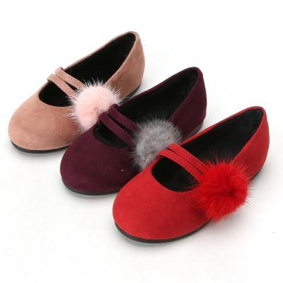 우리 2선밍크 140-200 유아 아동 여아용 구두 신발