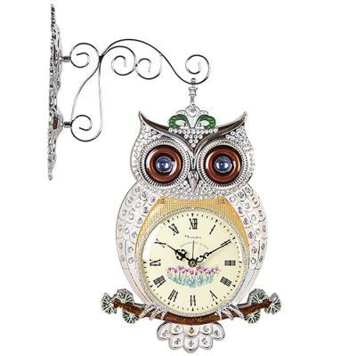 인테리어 SHINE OWL 양면 벽시계 실버CH1582867