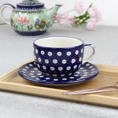 폴란드그릇 아티스티나 티잔&소서세트 200ml 패턴70a