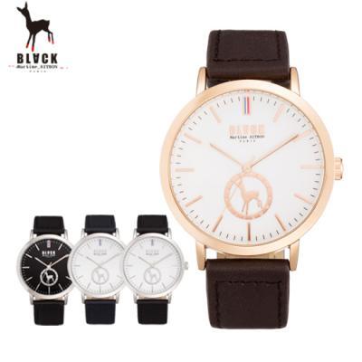 [블랙마틴싯봉] 남성 가죽 손목시계 BKL1660M