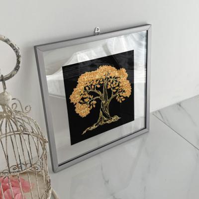 ac823-투명액자38CmX38Cm_돈들어오는황금나무