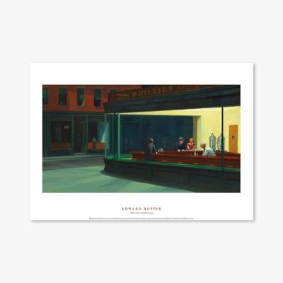 현대작가 포스터 갤러리 액자 037 Edward Hopper Nighthawks