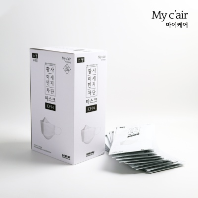 [마이케어] KF94 화이트 마스크 소형 (30매)