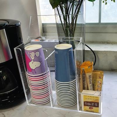 [HANSS]아크릴 커피트레이 (커피 차 컵 정리함 보관함