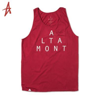 [Altamont] LOCKSTEP PKT TANK TOP (Red)