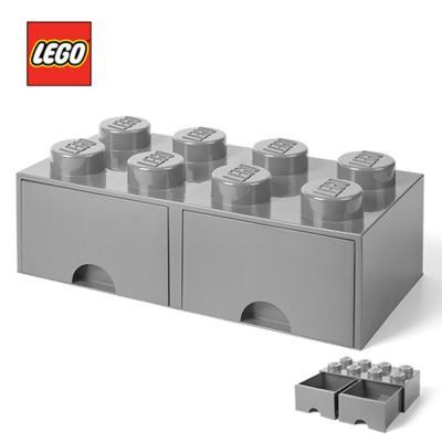 레고 블럭 서랍형정리함 8구 1740_ 그레이