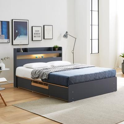 [노하우] 로엠 LED 헤드수납 4서랍형 침대 Q