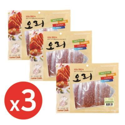 홈쿡(400g) 오리 다이어트안심쌀스틱x3개 강아지간식