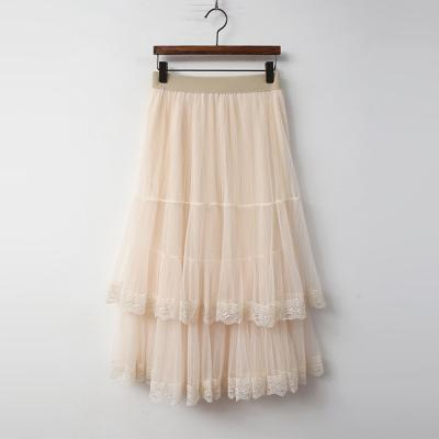 Lace Cha Cancan Long Skirt