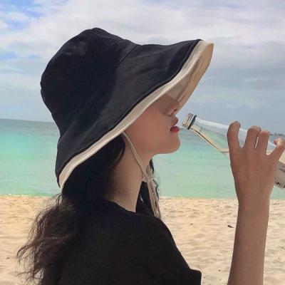 타이스 넓은챙 벙거지 버킷햇 자외선차단 모자