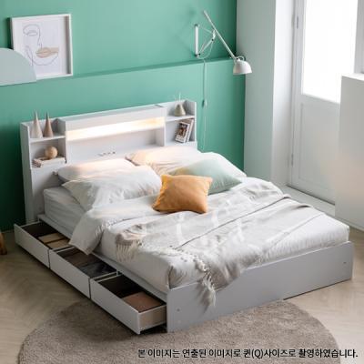 아르메 레이첼 LED 수납형 침대SS_밸런스 투인스 매트