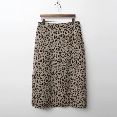 Wool Leopard Long Skirt