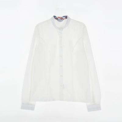 [교복아울렛] 화이트 여자 차이나 카라 셔츠
