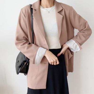 여성 여자 가을 자켓 재킷 레켄드 사각포켓 싱글 하프