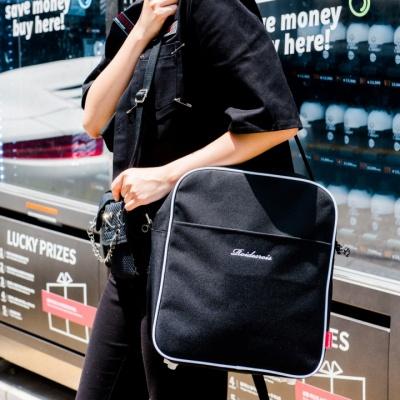 [로아드로아]ROIDESROIS - SUB AIR LINE CROSS BAG (BLACK) 크로스백 가방