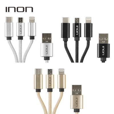 아이논 3in1 멀티 충전 케이블 0.5m IN-MCA051