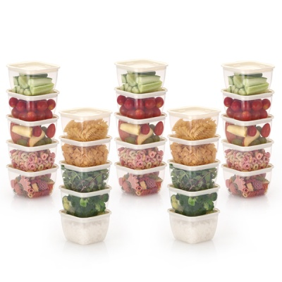 한끼밥 냉동밥 전자렌지용기 400ml 25개(크림)